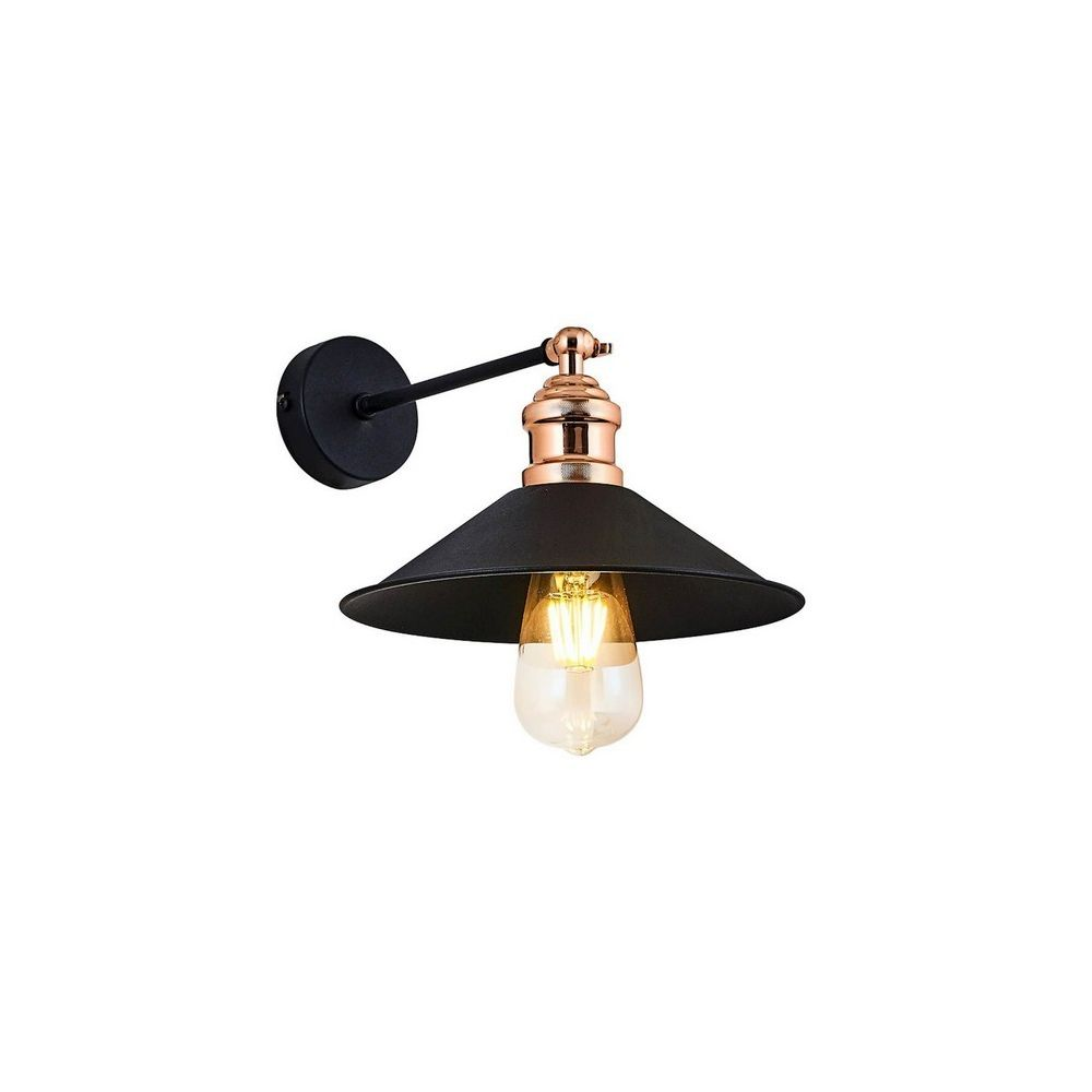 Homemania HOMEMANIA Lampe Murale Zil Applique - Noir en Métal, 17 x 30 x 28 cm, 1 x E27, 40W