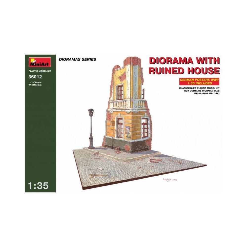 Mini Art Diorama W/ruined House - Décor Modélisme