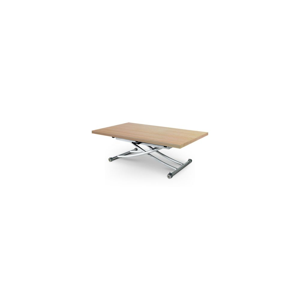 Giovanni Table basse relevable Clever XL Chêne Clair