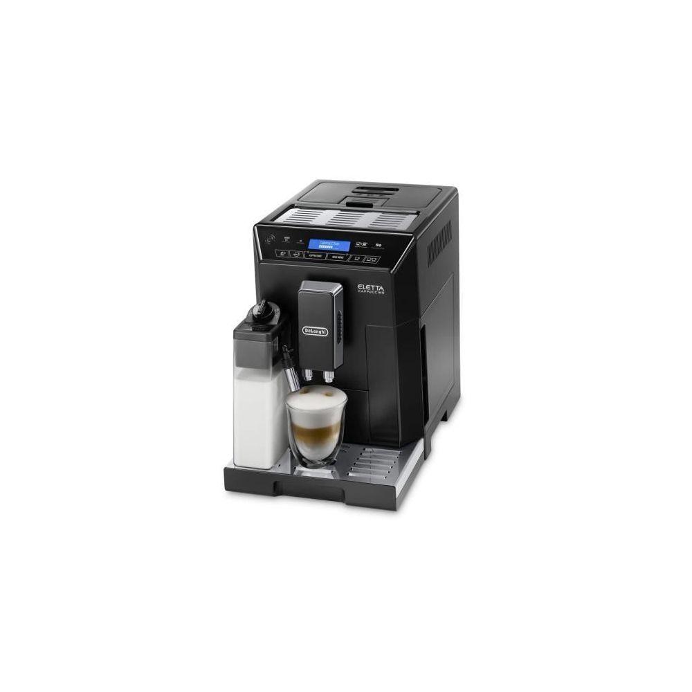 Delonghi machine à expresso avec écran et broyeur pour Café en grains et moulu 1450W noir