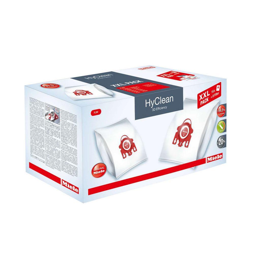 Miele miele - lot de 16 sacs + 4 filtres d'évacuation + 4 filtres moteur - fjm hyclean 3d xxl pack