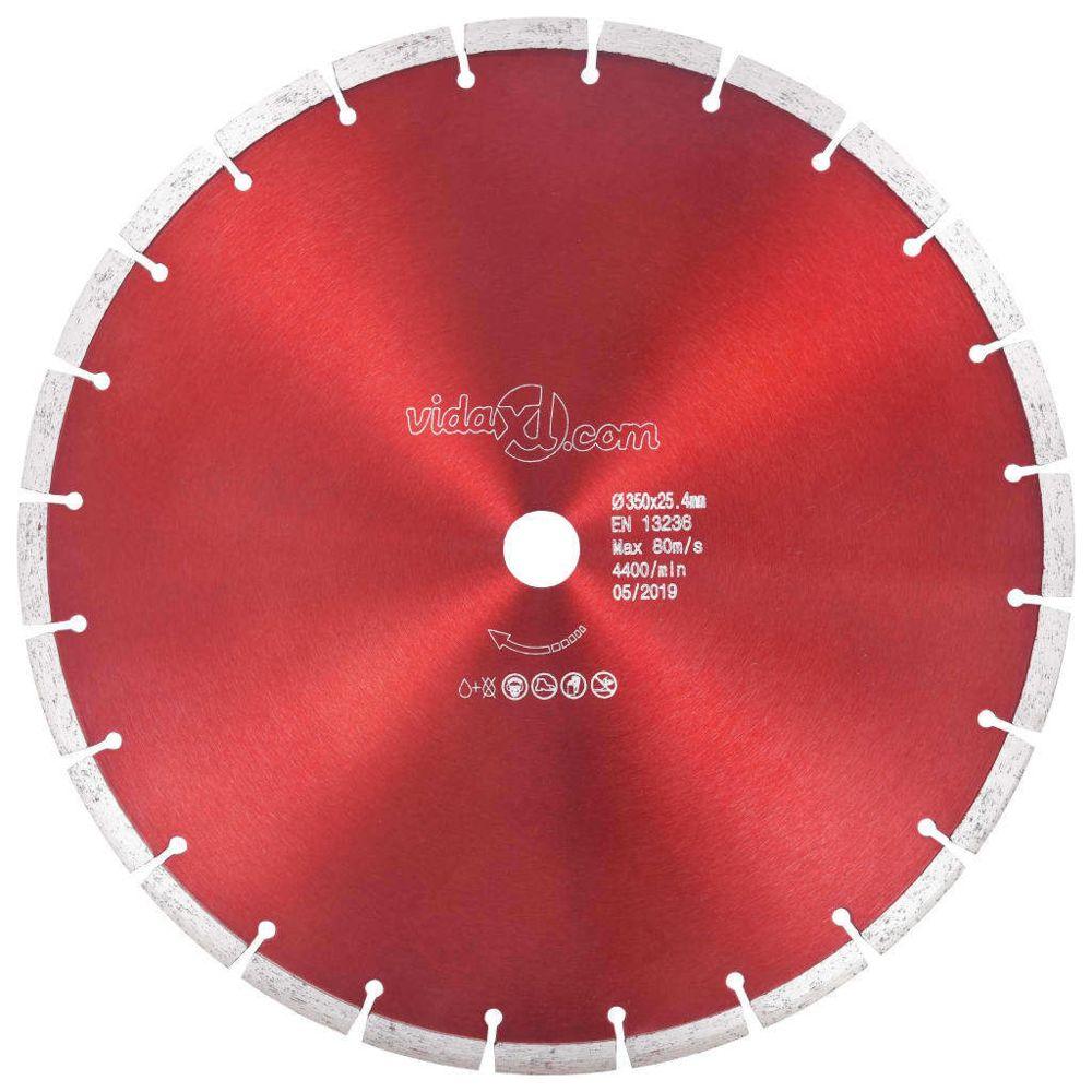 Vidaxl vidaXL Disque de coupe diamanté Acier 350 mm
