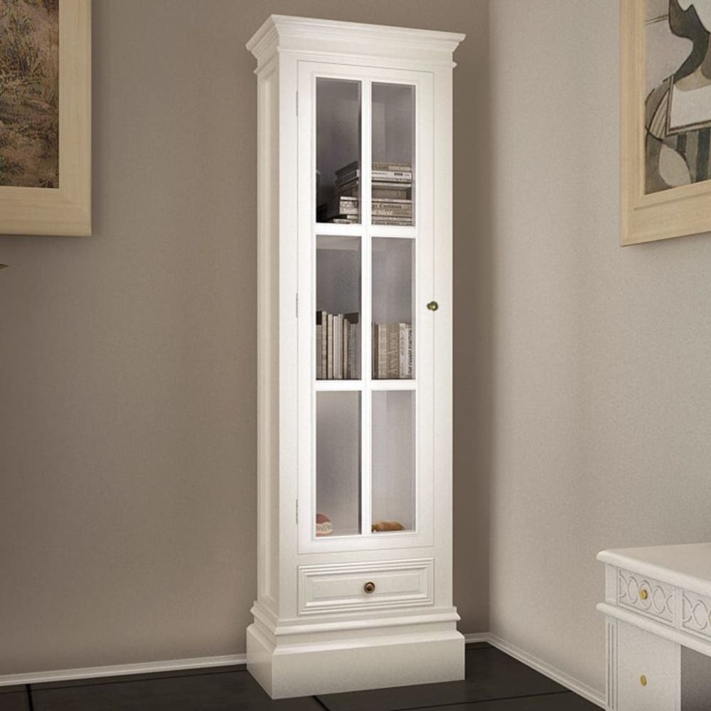 Vidaxl Meuble de bibliothèque avec 3 étagères Blanc Bois   Blanc