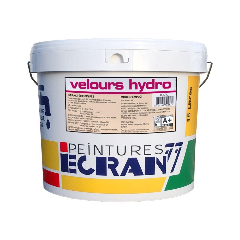 Peintures Daniel Peinture professionnelle alkyde, velours, pour murs et plafonds, blanc, VELOURS HYDRO-15 litres