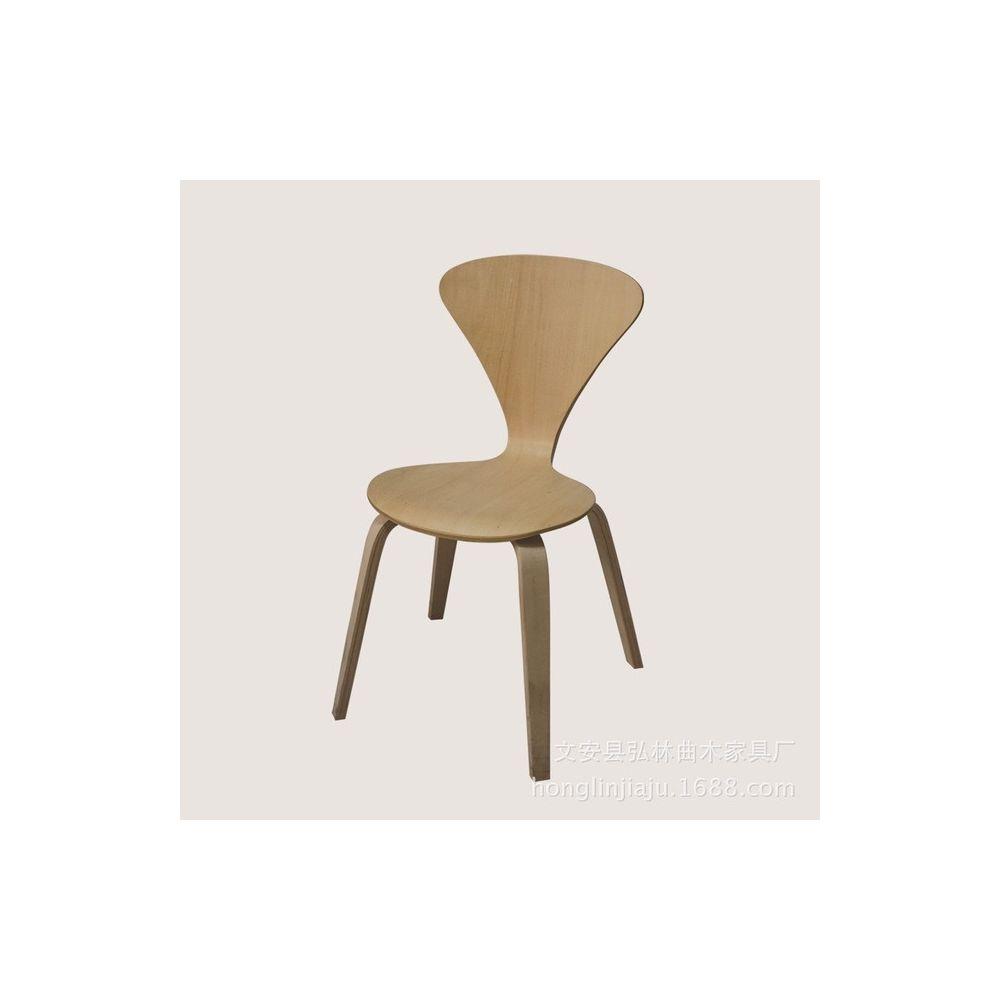 Wewoo Chaise de bureau en noyer de style nordique de table haute de bar Tea Lounge longue de café