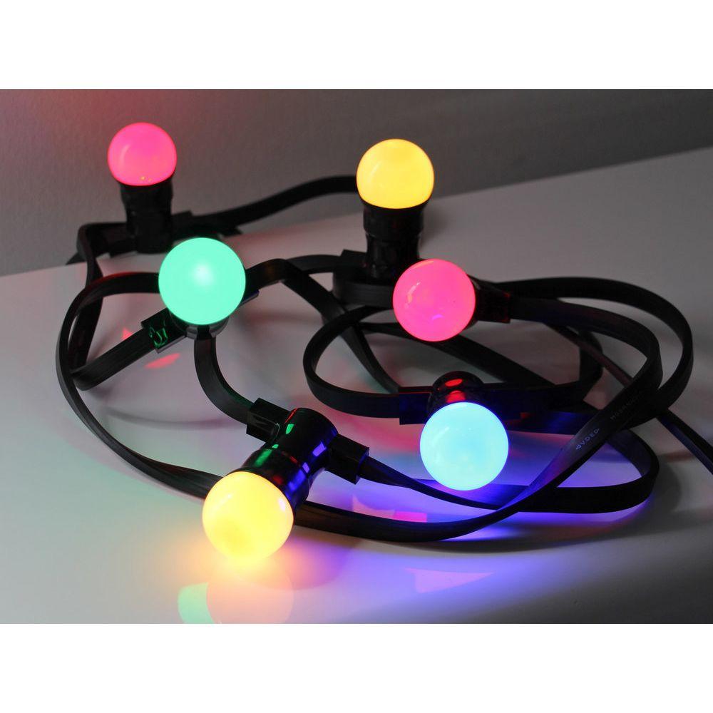 Leblanc Illumination Guirlande Guinguette B22 - Ampoules interchangeables