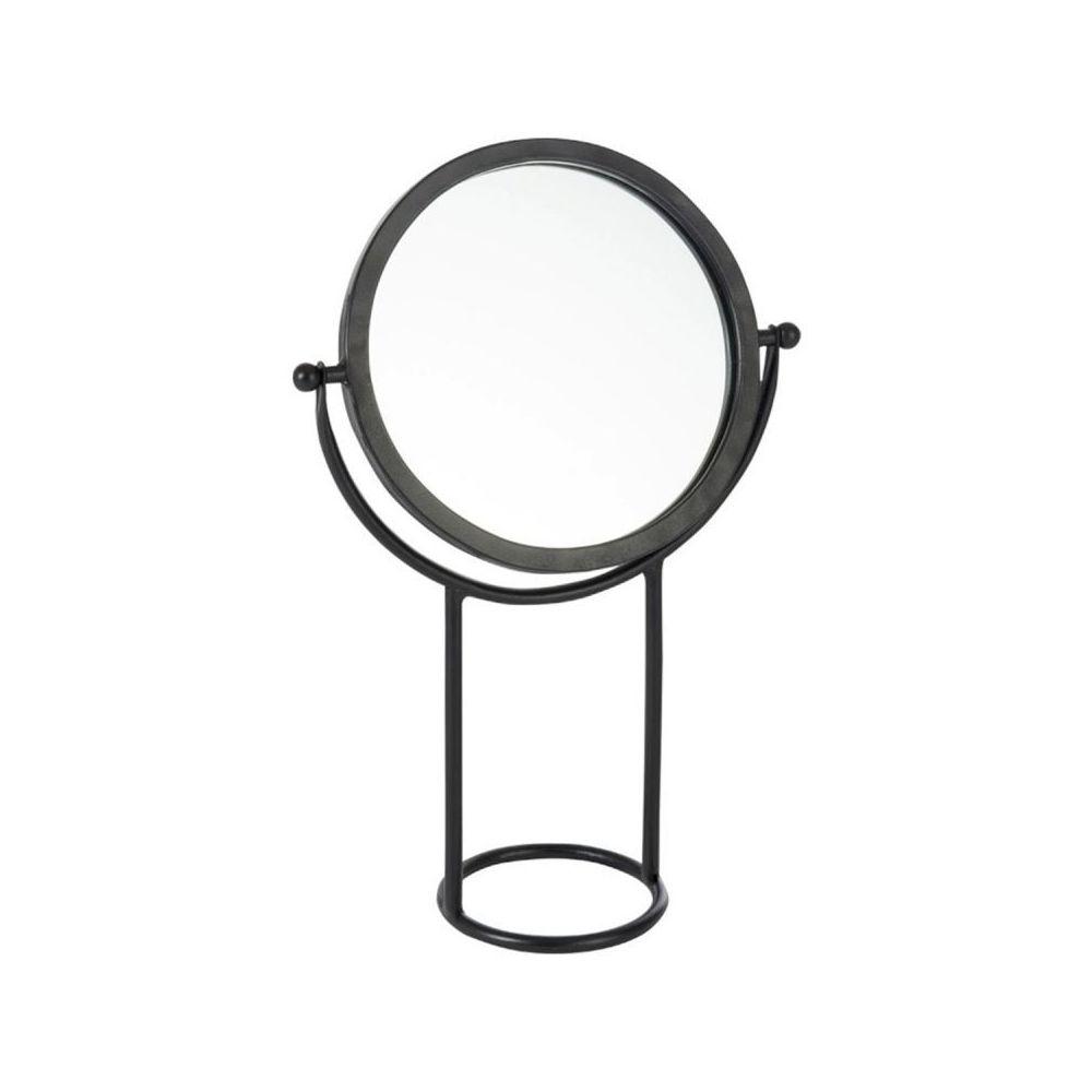 Paris Prix Miroir Rond sur Pied en Métal Tuba 43cm Noir