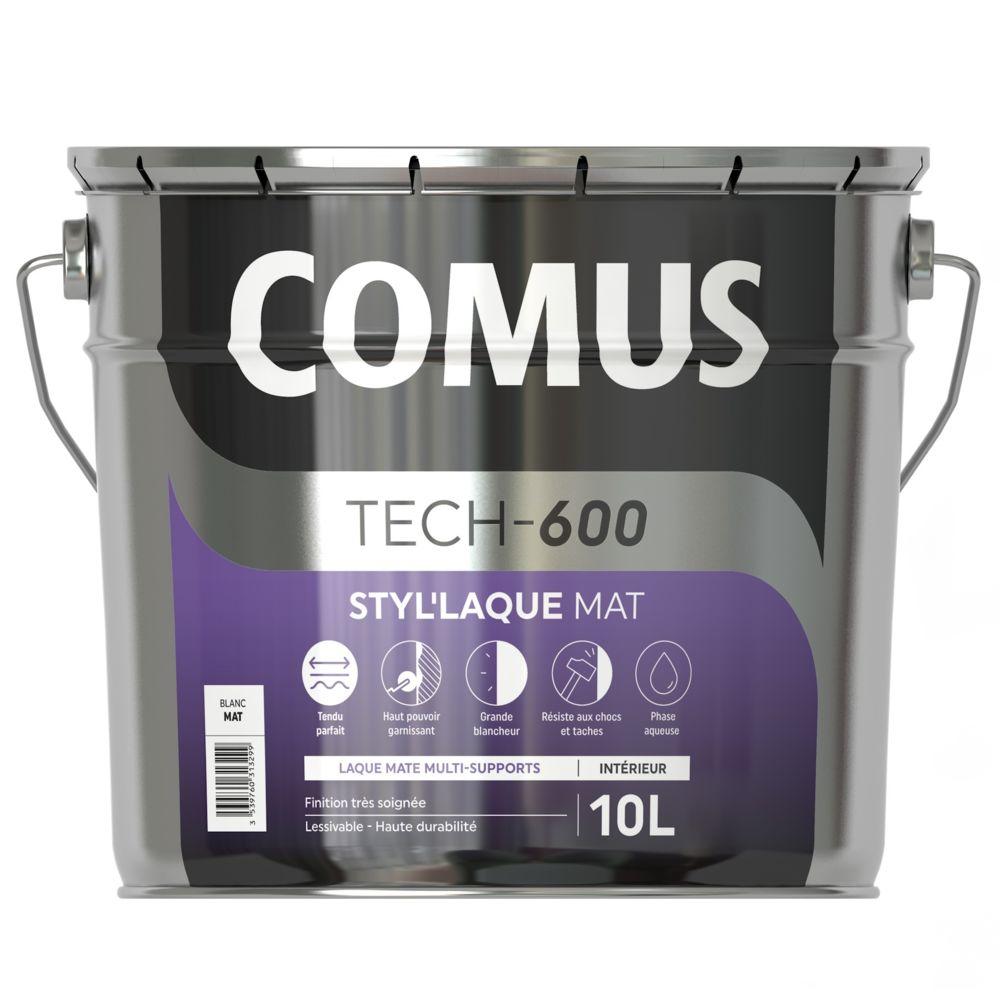 Comus STYL'LAQUE MAT 10L - Peinture laque mat multi-supports - COMUS