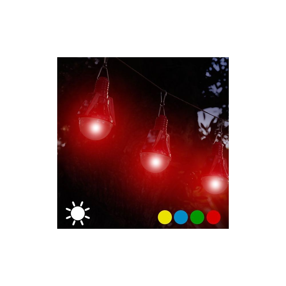 Totalcadeau Ampoule Solaire (paquet de 4) - Lampe exterieur décoration lumineuse Couleur - Rouge