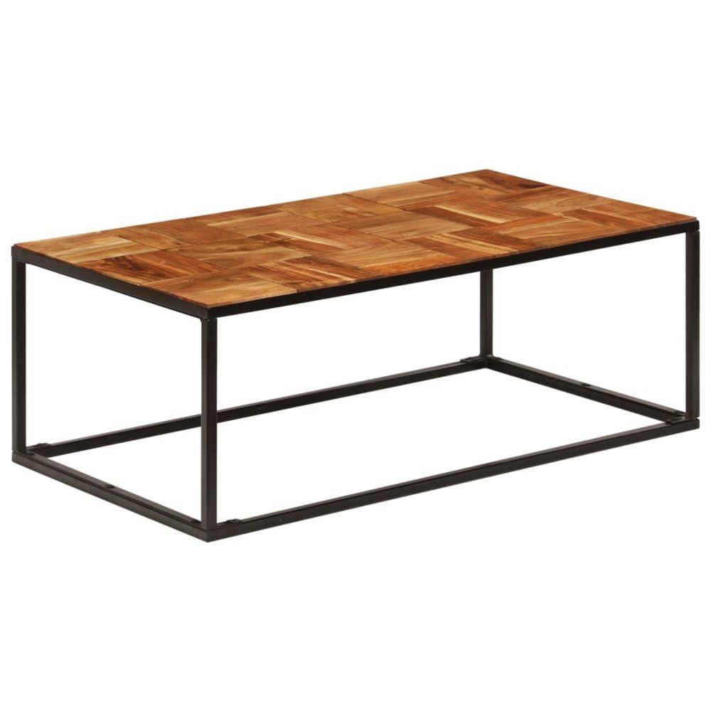 Vidaxl vidaXL Table basse 110x40x60 cm Bois d'acacia solide et acier