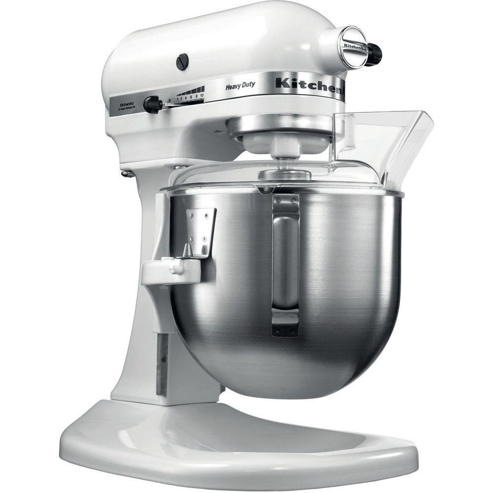 Kitchenaid robot multifonction de 4,8L avec bol relevable 315W blanc argent