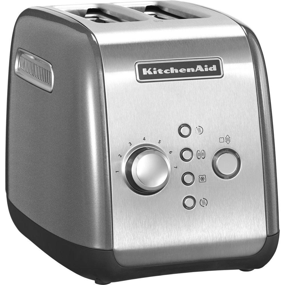 Kitchenaid grille pain avec 2 fentes 1100W gris argent