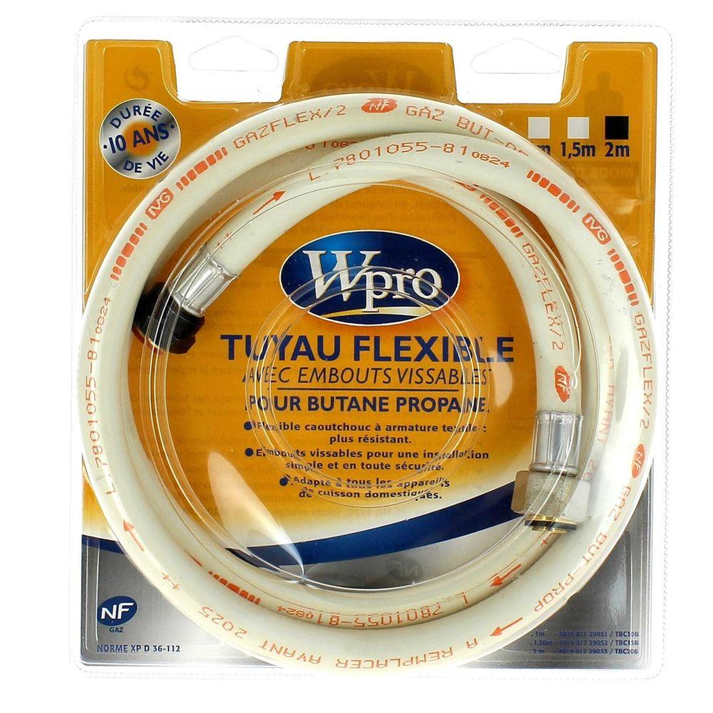 Wpro Tuyau butane 2m visse 10 ans pour Cuisiniere Accessoire, Cuisiniere Wpro