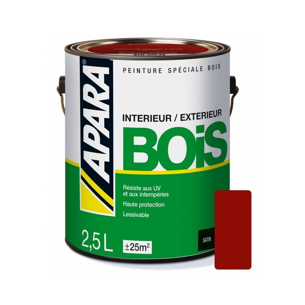 Apara Peinture BOIS SATIN-2.5 litres-Rouge basque (RAL 8015)