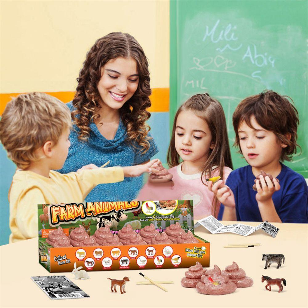 Generic Excavation Animaux de la ferme Creuser Kit pour animaux enfants Ferme Figure Jouets Science Education