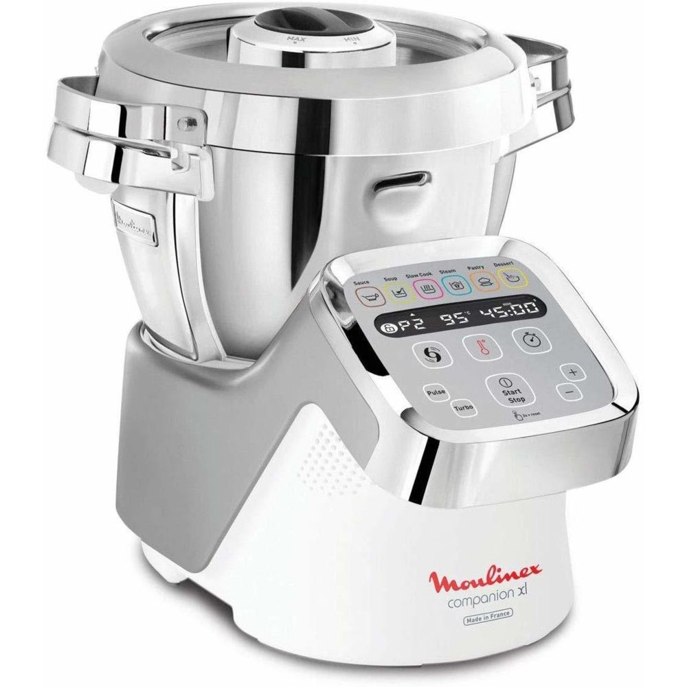 Moulinex Robot cuiseur multifonction de 4,5L avec 12 vitesses 1550W