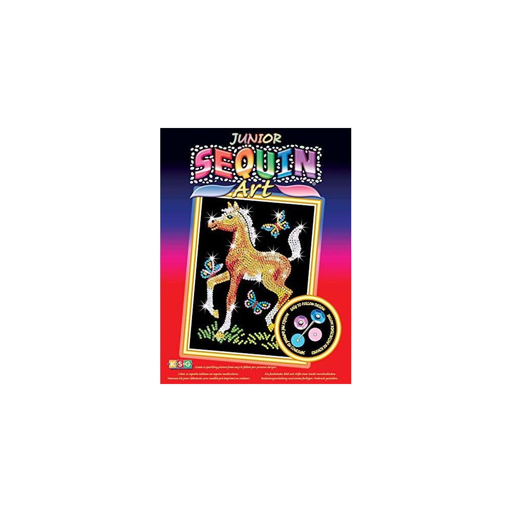 Sequin Art Sequin Art Red Foal Sparkling Arts and Crafts Picture Kit Creative Crafts for Adults and Kids