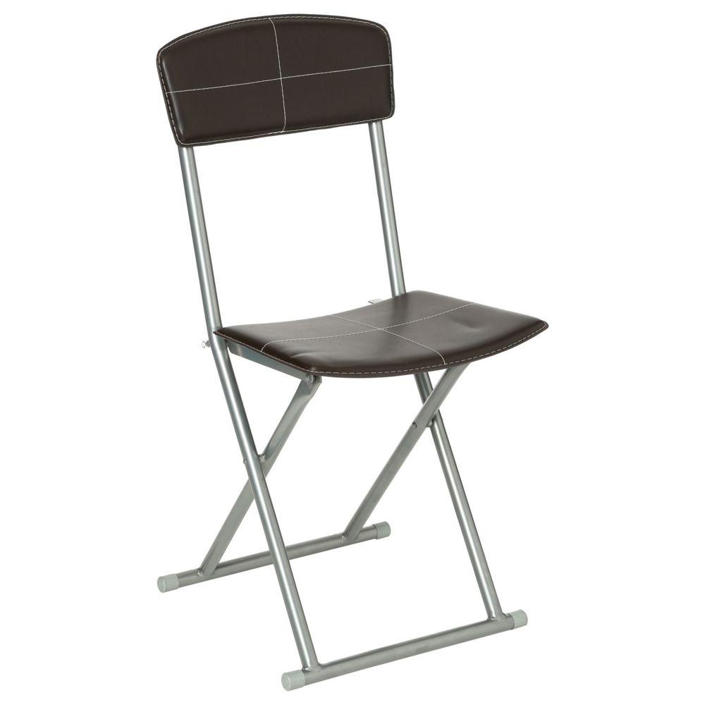 Atmosphera, Createur D'Interie Chaise pliante - PVC - Marron
