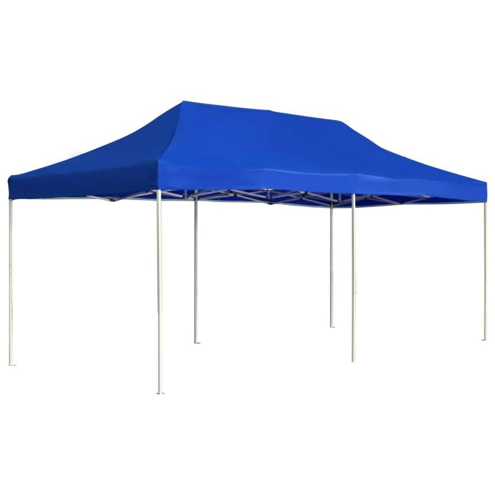 Vidaxl vidaXL Tente de Réception Pliable 6x3 m Bleu Pavillon Chapiteau Tonnelle