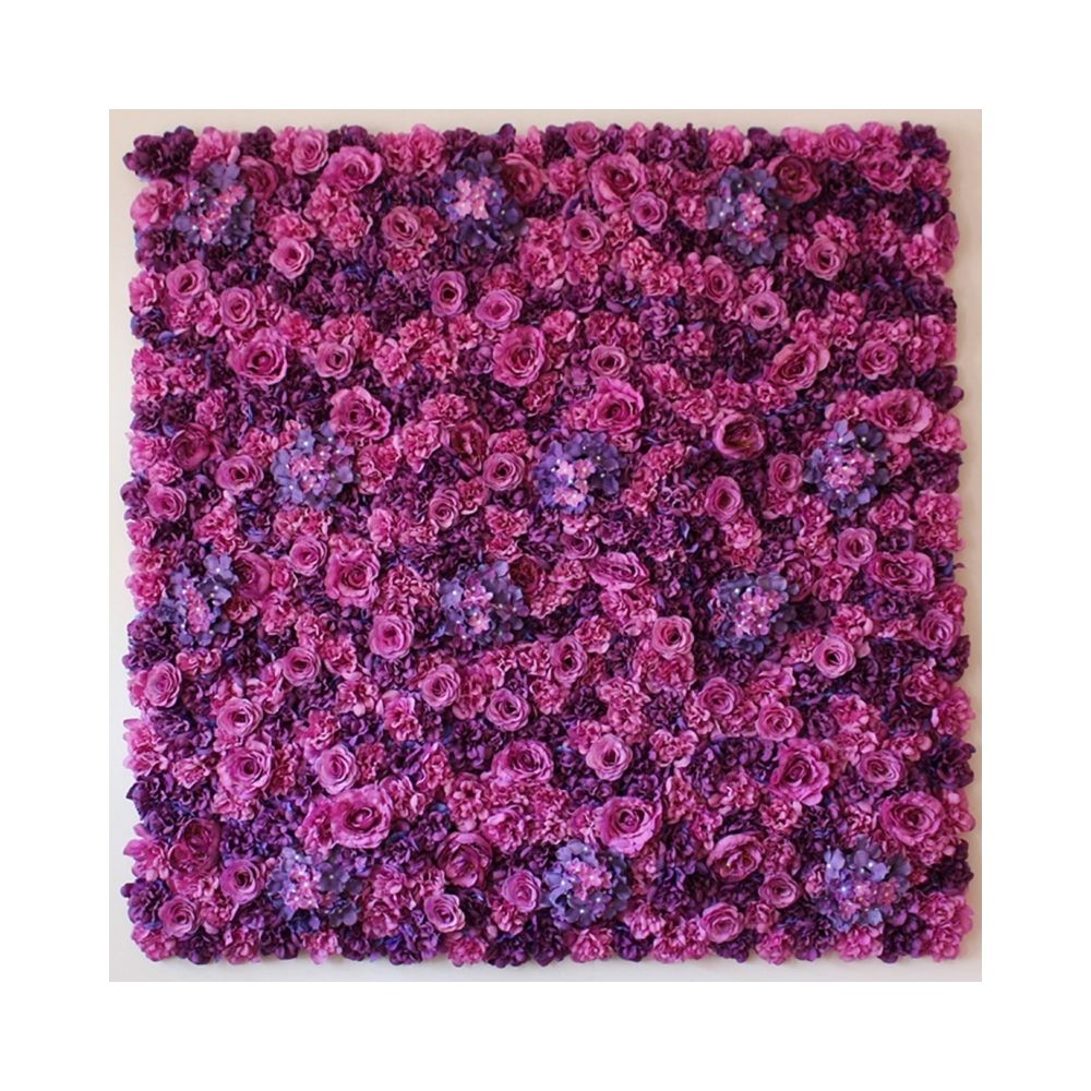 Wewoo Décoration Jardin rose Violet Blooming Pivoine Hortensia artificielle cryptage fleur bricolage mariage mur photo fond, t