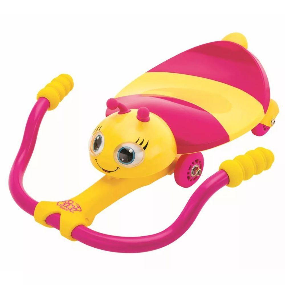 Ak Sports AK Sports Karting Abeille à pédale Rose et jaune