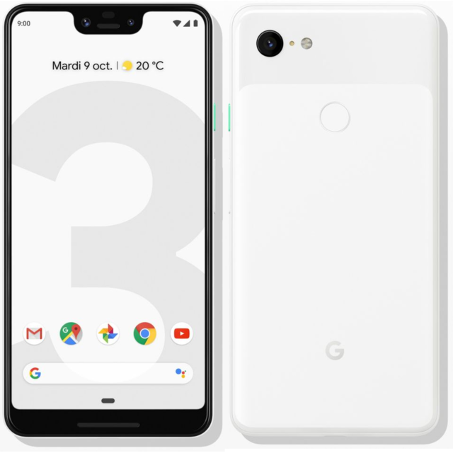 GOOGLE - Pixel 3 XL - 128 Go - Blanc - Smartphone Android 6.3 (16,0 cm)