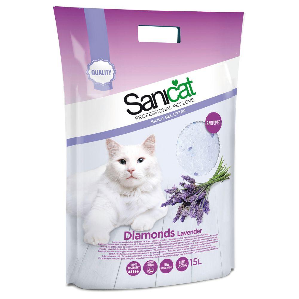 Sanicat Litière Diamonds Lavande pour Chat - Sanicat - 15L