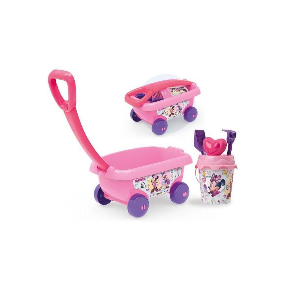 Smoby MINNIE Smoby Chariot De Plage Garni - Disney