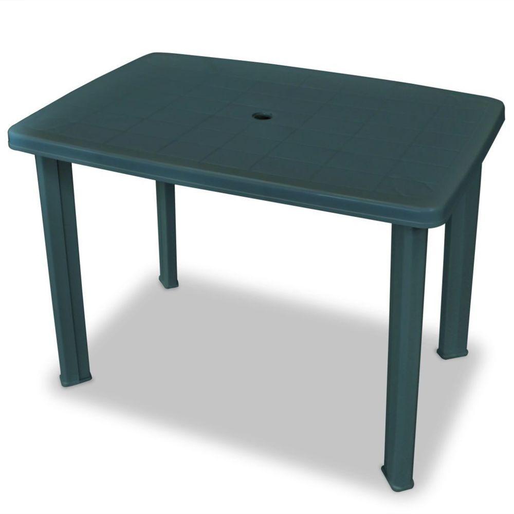 Vidaxl Table de jardin 101 x 68 x 72 cm Plastique Vert   Vert