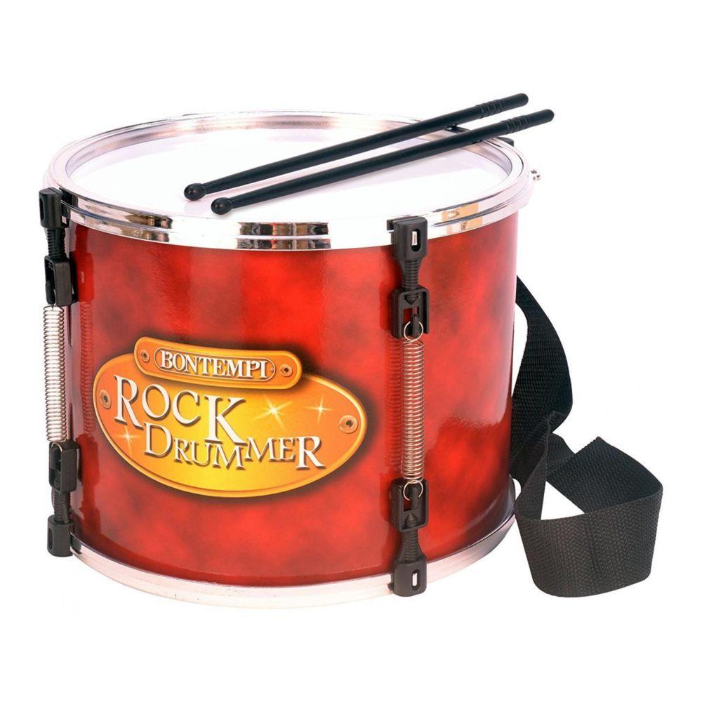 Bontempi Grand tambour de marche avec bandoulière et baguettes