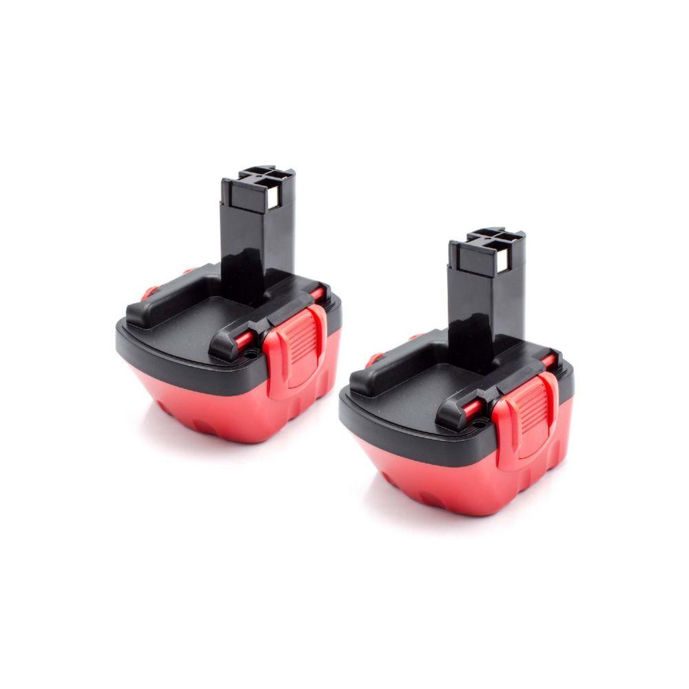 Vhbw vhbw 2x NiMH batterie 1500mAh (12V) pour outil électrique outil Powertools Tools Bosch GSR 12V, JAN-55, PAG 12, PSB 12 V