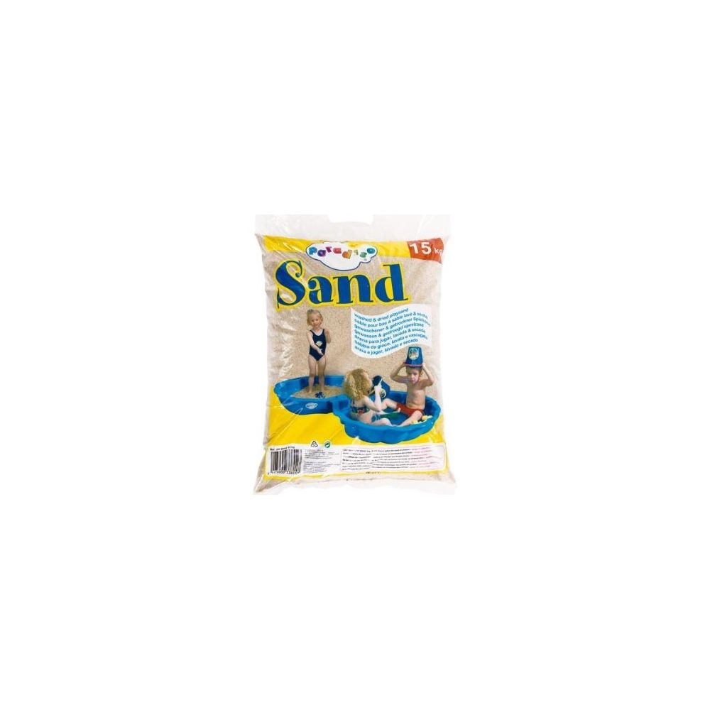Paradiso Sac de sable de 15Kg pour jeux et bac, à sable