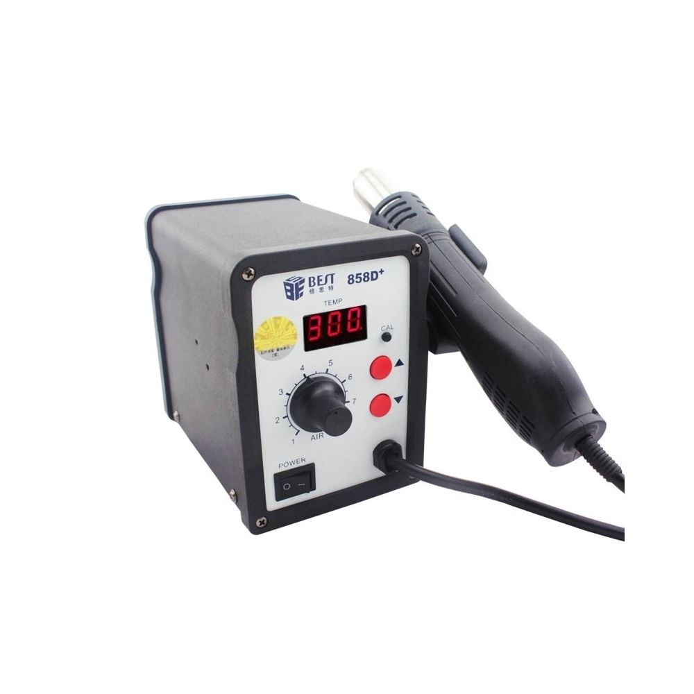 Wewoo Pistolet à chaleur noir AC 220 V 50 Hz 650 W LED Displayer température réglable sans plomb à air chaud avec vent hélicoï