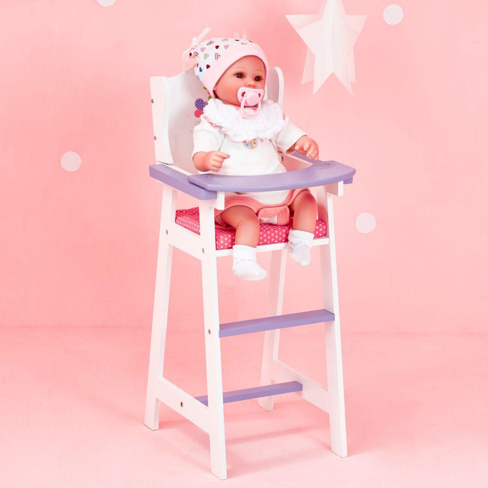 Olivia'S Little World Chaise haute poupon poupée Little Princess mobiler bois jeux jouet TD-0098A
