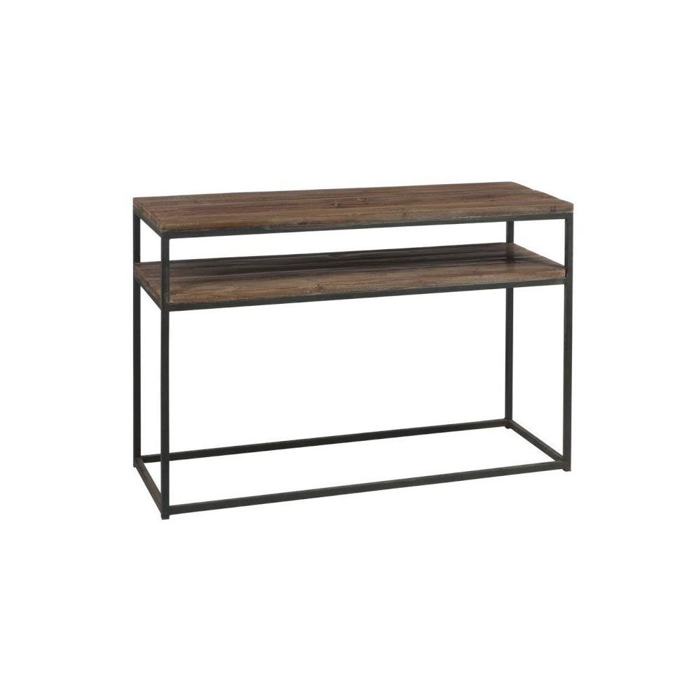 Design And Vintage Console industrielle en bois et métal