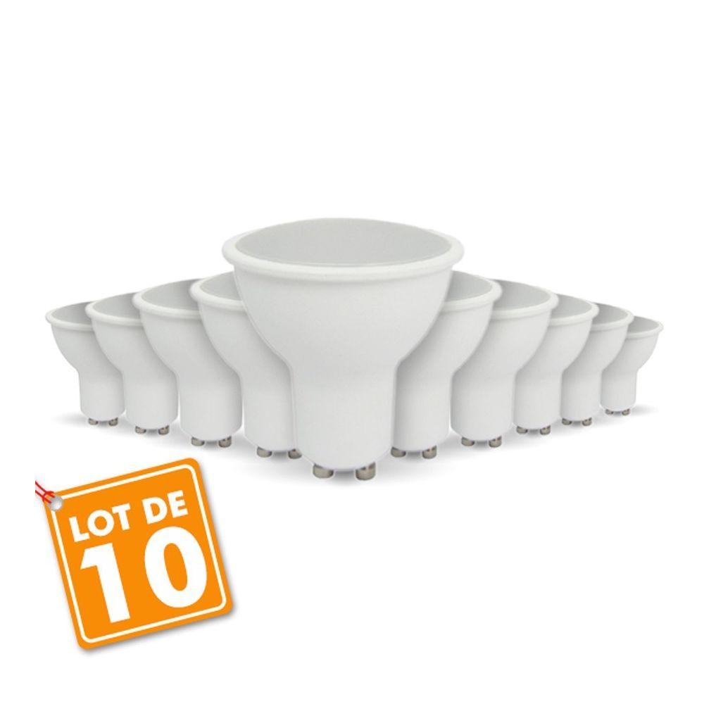 Eclairage Design Lot de 10 ampoules LED GU10 5W eq 40W (Température de Couleur Blanc neutre 4000K)