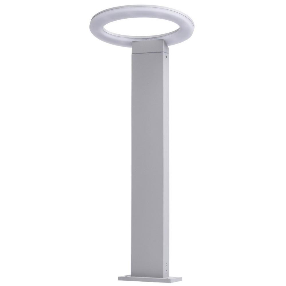 Mw Light Lampe de jardin futuriste anneau LED blanche