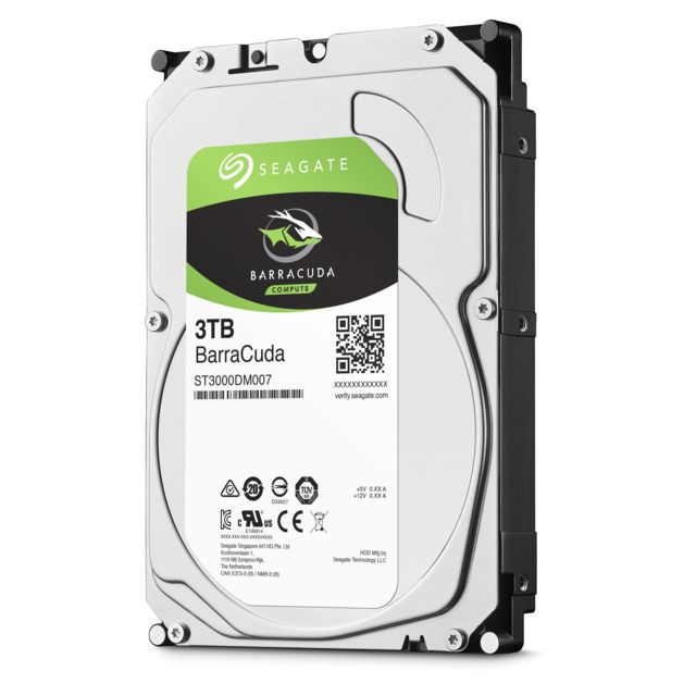 Seagate - Barracuda 3 To - 3.5'' SATA III 6 Go/s - Cache 256 Mo - Disque Dur interne