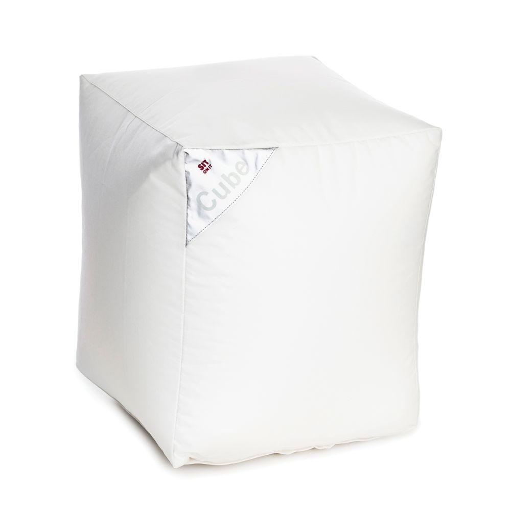 Rendez Vous Deco Pouf Cube blanc