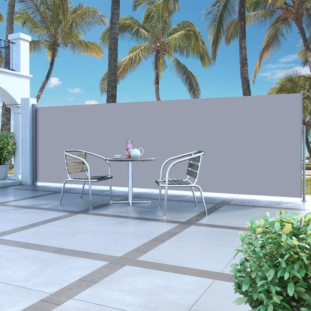 Vidaxl Auvent latéral rétractable 160 x 500 cm Gris - Pelouses et jardins - Vie en extérieur - Parasols et voiles d'ombrage | G