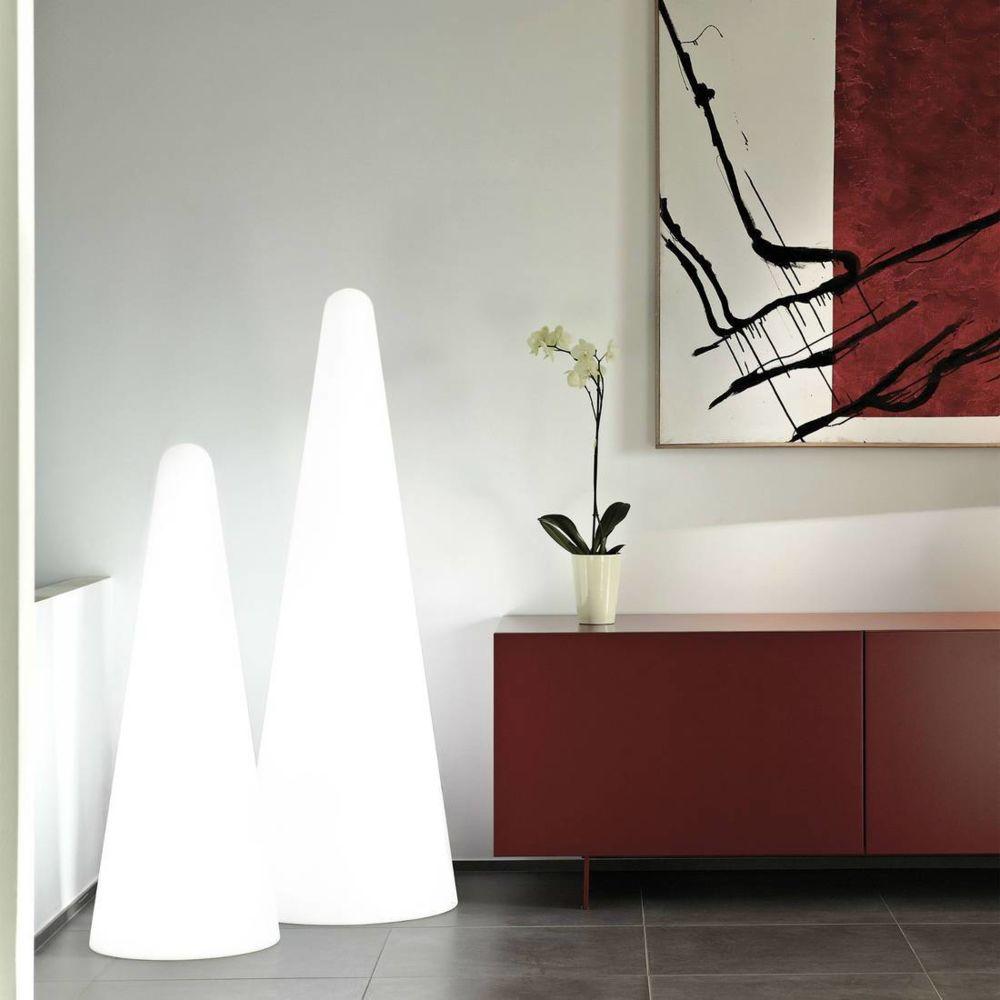 Slide CONO OUT - Lampe d'extérieur Blanc H113cm - Luminaire d'extérieur Slide designé par Gio Colonna Romano