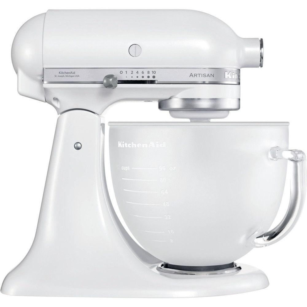 Kitchenaid robot multifonction de 4,8L 300W blanc givré