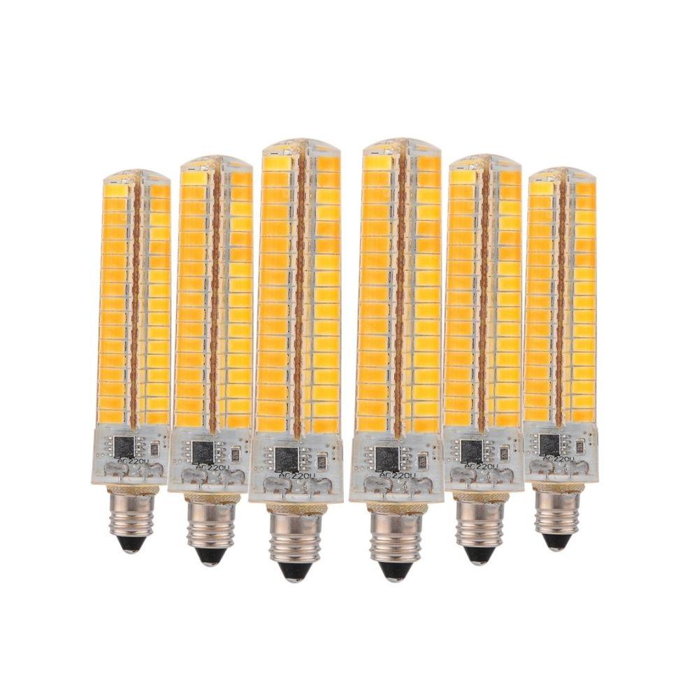 Wewoo Ampoule LED SMD 5730 6 PCS E11 7W CA 200-240V 136LEDs SMD 5730 Lampe de silicone à DEL à économie d'énergie (blanc chaud