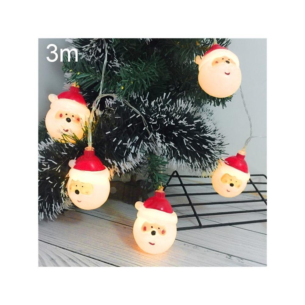 Wewoo Guirlande LED 3 m père Noël vacances lumineuse, 20 LEDs USB Plug Warm Warm Fairy Lampe décorative pour Noël, fête, chamb