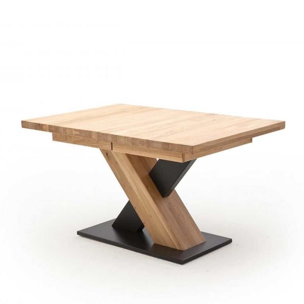 Inside 75 Table repas extensible MEUDON 140/220 x 90 cm chêne blanchi massif
