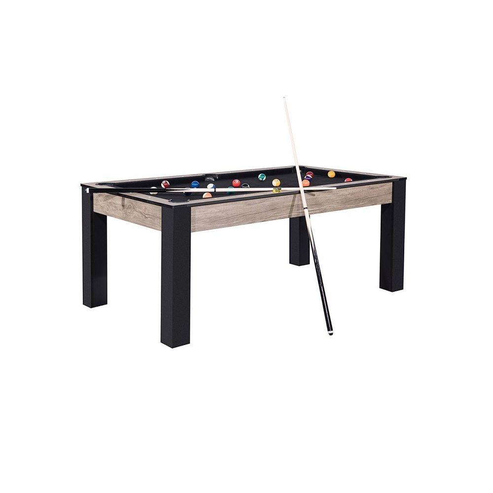 Generic Billard Island 185 cm design industriel tapis noir convertible table salle manger