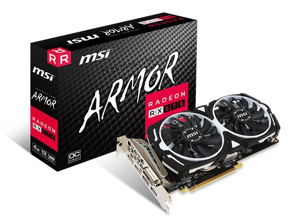 Msi - Radeon RX 570 - ARMOR OC - 4 Go - Carte Graphique AMD