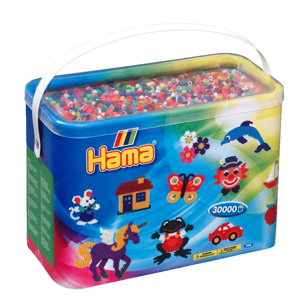 Hama Baril de 30000 perles Hama Midi : 48 couleurs