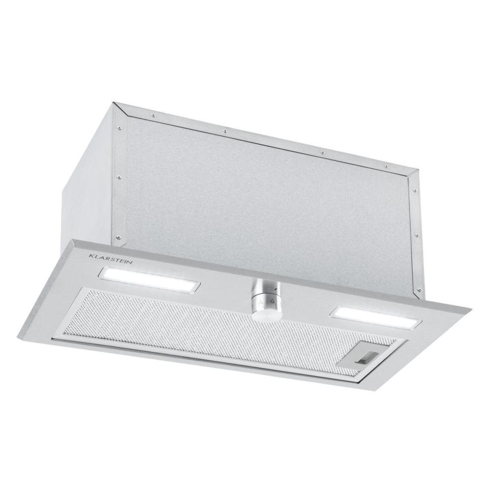 Klarstein Klarstein Simplica Hotte aspirante encastrable 52 cm - Extraction 400 m³ / h - Eclairage LED - Inox argent