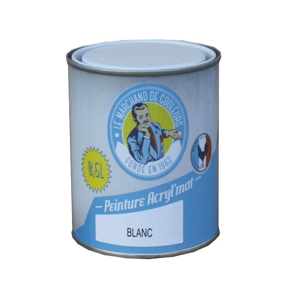 Onip Peinture acrylique - Murs et plafonds - Mat - Blanc - 0.5 L - ONIP